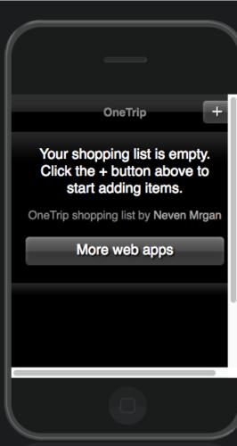 Браузерное приложение для списка покупок