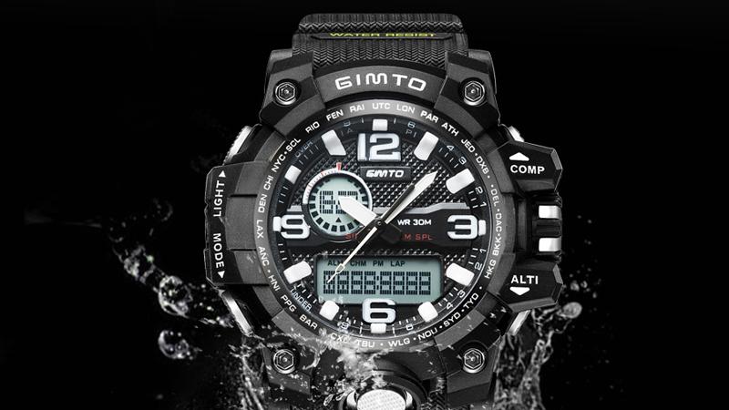 часы с комбинированным циферблатом