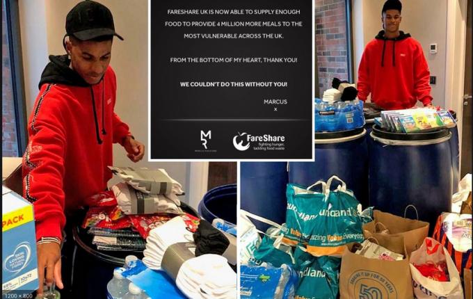 23-летний английский футболист спас сотни тысяч детей от голода. Огромный респект Маркусу Рэшфорду